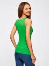 Майка базовая oodji для женщины (зеленый), 14315002B/46154/6A00N - вид 3