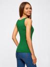 Майка базовая oodji для женщины (зеленый), 14315002B/46154/6E00N - вид 3