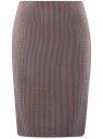 Юбка-карандаш базовая oodji для женщины (серый), 21600282-4B/22124/2349C