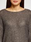 Джемпер вязаный с пайетками oodji для женщины (коричневый), 63805330-1/48800/3700X - вид 4