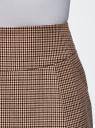 Юбка короткая с карманами oodji для женщины (бежевый), 11605056-2B/22124/3366C