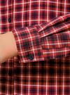 Рубашка в клетку с карманами oodji #SECTION_NAME# (красный), 11400433-1/43223/4529C - вид 5