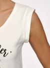 Пижама хлопковая с принтом oodji #SECTION_NAME# (белый), 56002196-5/47969/1266P - вид 5