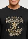 Свитшот прямого силуэта с вышивкой oodji #SECTION_NAME# (черный), 5L113143I-2/48820N/2993P - вид 4