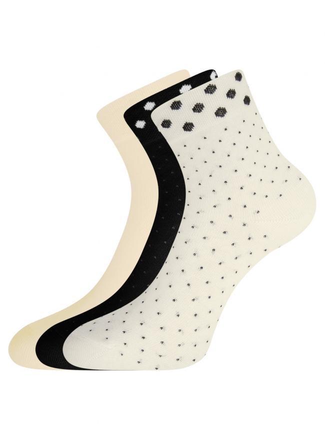 Комплект из трех пар носков oodji #SECTION_NAME# (разноцветный), 57102810T3/48421/6
