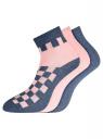 Комплект из трех пар укороченных носков oodji #SECTION_NAME# (разноцветный), 57102418T3/47469/56 - вид 2