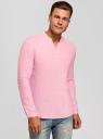 Рубашка льняная без воротника oodji #SECTION_NAME# (розовый), 3B320002M/21155N/4000N - вид 2