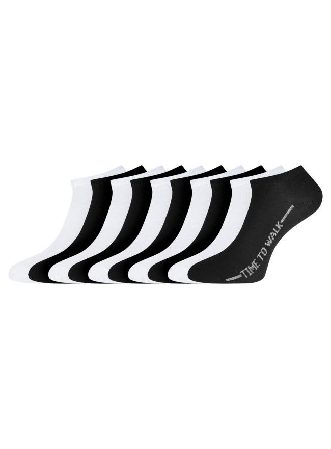 Комплект укороченных носков (10 пар) oodji #SECTION_NAME# (разноцветный), 57102433T10/47469/25