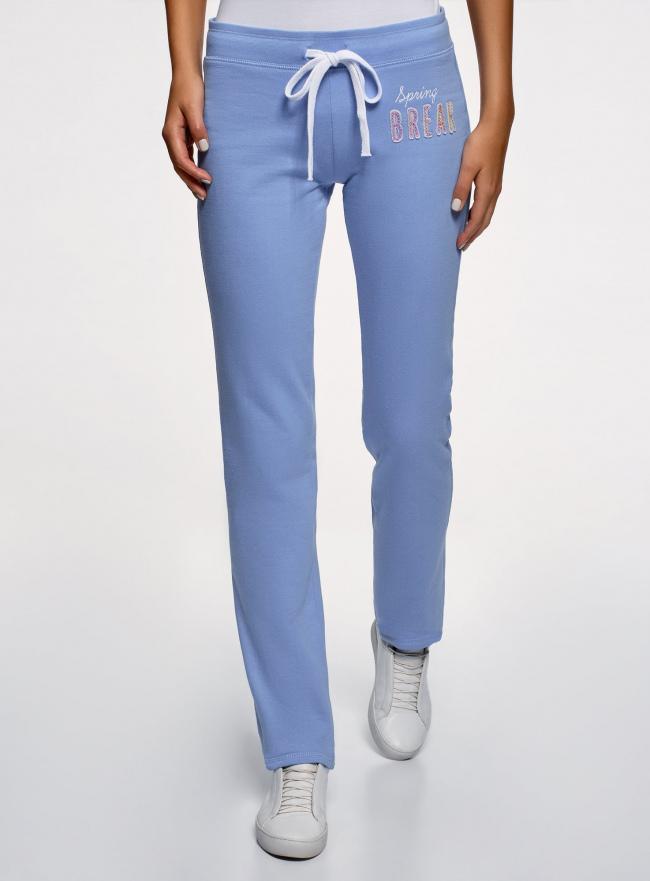 Комплект трикотажных брюк (2 пары) oodji #SECTION_NAME# (разноцветный), 16700045T2/46949/7569N
