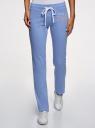 Комплект трикотажных брюк (2 пары) oodji #SECTION_NAME# (разноцветный), 16700045T2/46949/7569N - вид 2