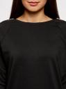Платье трикотажное с декоративными молниями на плечах oodji #SECTION_NAME# (черный), 24007026/37809/2900N - вид 4