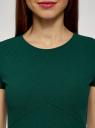 Платье трикотажное А-силуэта oodji для женщины (зеленый), 14005147/49476/6900X