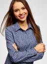 Рубашка джинсовая принтованная oodji для женщины (синий), 16A09003-3/47735/7512G