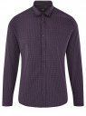 Рубашка приталенная в мелкую графику oodji #SECTION_NAME# (фиолетовый), 3L110348M/44425N/8883G