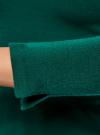Джемпер базовый с рукавом 3/4 oodji #SECTION_NAME# (зеленый), 63812579B/38149/6E00N - вид 5