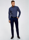 Рубашка базовая из хлопка  oodji #SECTION_NAME# (синий), 3B110026M/19370N/7970G - вид 6
