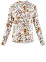 Блузка вискозная А-образного силуэта oodji #SECTION_NAME# (белый), 21411113B/26346/3052F