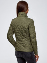 Куртка стеганая с воротником-стойкой oodji #SECTION_NAME# (зеленый), 18304009-2B/48327/6800B - вид 3