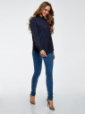 Блузка прямого силуэта с нагрудным карманом oodji #SECTION_NAME# (синий), 11411134B/46123/7912Q - вид 6
