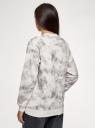 Свитшот свободного силуэта из хлопка oodji для женщины (белый), 14808061/47999/1223T