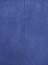 Шорты-трапеция из искусственной замши oodji для женщины (синий), 18M01000/47301/7500N