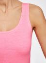Майка базовая oodji для женщины (розовый), 14315002B/46154/4D00Y