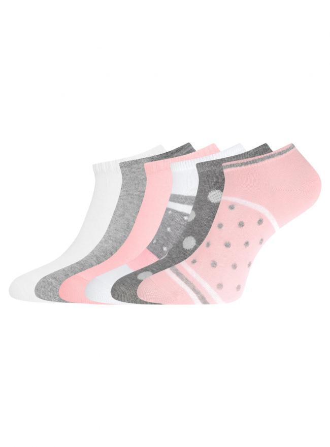 Комплект укороченных носков (6 пар) oodji для женщины (разноцветный), 57102433T6/47469/82