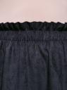 Юбка из искусственной замши на эластичном поясе oodji для женщины (синий), 18H05009/47743/7900N