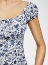 Платье принтованное из хлопка oodji для женщины (белый), 11902047-3/14885/1275F