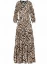 Платье макси на пуговицах oodji для женщины (бежевый), 11901148/24681/3329A