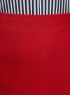 Юбка-трапеция короткая oodji #SECTION_NAME# (красный), 11600413-2/43703/4500N - вид 4