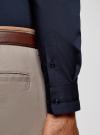 Рубашка приталенная с контрастной отделкой oodji #SECTION_NAME# (синий), 3B140006M/34146N/7929B - вид 5