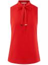 Топ свободного силуэта с завязками oodji для женщины (красный), 24911002/36215/4500N
