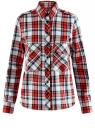 Рубашка хлопковая с нагрудными карманами oodji #SECTION_NAME# (красный), 11411052-1B/42850/4512C