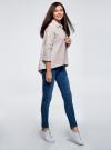 Рубашка свободного силуэта с удлиненной спинкой oodji #SECTION_NAME# (серый), 13K11002B/45387/2310S - вид 6