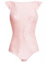 Боди кружевное oodji для женщины (розовый), 55904011/46026/4000L
