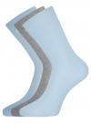 Комплект высоких носков (3 пары) oodji #SECTION_NAME# (разноцветный), 57102902T3/47469/49 - вид 2