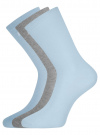 Комплект высоких носков (3 пары) oodji для женщины (разноцветный), 57102902T3/47469/49 - вид 2