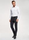 Рубашка базовая из хлопка oodji для мужчины (белый), 3B110016M-1/44425N/1075D - вид 6