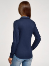 Рубашка базовая с нагрудными карманами oodji #SECTION_NAME# (синий), 11403222B/42468/7900N - вид 3