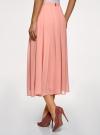 Юбка в складку из струящейся ткани oodji #SECTION_NAME# (розовый), 23G00009-2B/45193/4B00N - вид 3