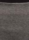 Юбка трикотажная со шлицей oodji #SECTION_NAME# (серый), 24101049-2B/38261/2501M - вид 4