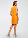 Жилет льняной длинный oodji для женщины (оранжевый), 22300101/16009/5500N