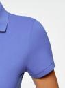 Поло базовое из ткани пике oodji для женщины (синий), 19301001-1B/46161/7500N