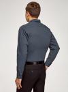 Рубашка slim с мелким геометрическим узором oodji #SECTION_NAME# (черный), 3L110216M/19370N/2975G - вид 3