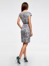 Платье трикотажное с ремнем oodji #SECTION_NAME# (разноцветный), 24008033-2/16300/126AE - вид 3