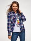 Рубашка с нагрудными карманами oodji #SECTION_NAME# (синий), 13L11006-1B/42850/7945C - вид 2
