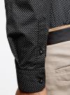 Рубашка хлопковая в мелкую графику oodji #SECTION_NAME# (черный), 3L110269M/44425N/2923G - вид 5