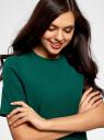 Платье однотонное прямого кроя oodji для женщины (зеленый), 21910002-1/42354/6E00N