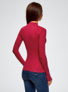 Водолазка в рубчик с пуговицами на рукавах oodji для женщины (розовый), 15E11009-1/48037/4C00N - вид 3